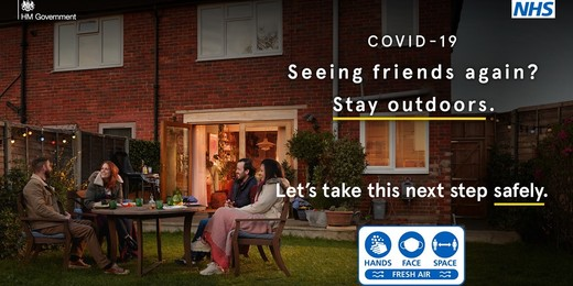 Seeing friends again - stay outdoors