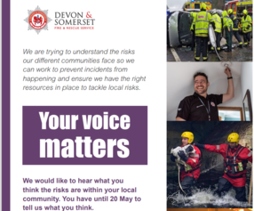 Fire service engagement poster extract - Your voice matters