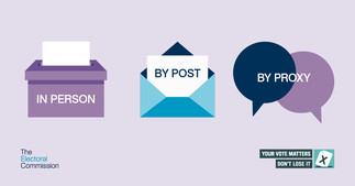 Ways of voting - in person, by post by proxy