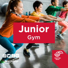 Junior gym - image of some young people in an exercise class