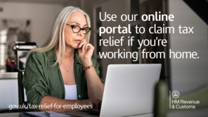 Use our online portal to claim tax relief if working from home