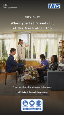 When you let friends in let the fresh air in too.  Fresh air blows the virus particles away.  Let's take the next step safely.