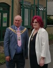Council Chair Cllr Colin Parker and Vice Chair Cllr Lorraine Evans