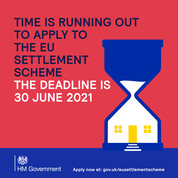 Time is running out to apply to the EU Settlement scheme.  The deadline is 30 June