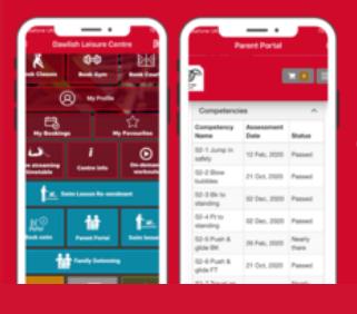 screen shot Teignbridge leisure app