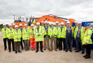 Partners marking road improvements