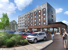 Artist impression proposed travelodge in Newton Abbbot