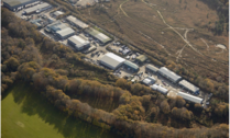 aerial view of a current employment site