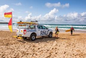 RNLI vehicle on beach