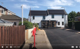 video capture of new council housing in drake road