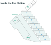 Exeter bus station lay out