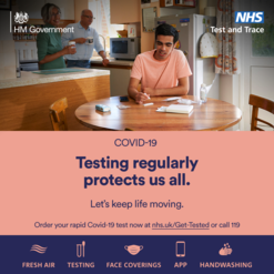 Testing regularly protects us all.  Let's keep life moving