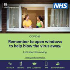 Remember to open windows to help blow the virus away.  Let's keep life moving
