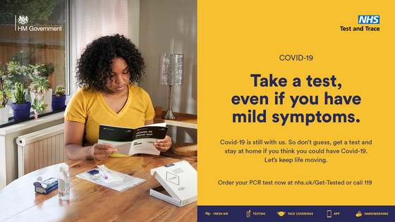 Take a test even if you have mild symptoms
