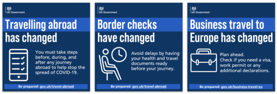 Changes to travelling abroad, border checks and business travel to Europe