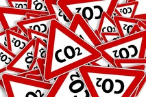 CO2 warning triangles
