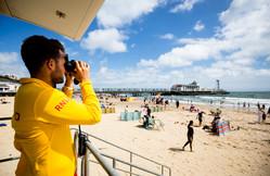 Lifeguard viewing beach.  Pic Credit RNLI/Nathan Williams