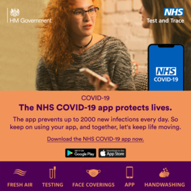 The NHS Covid-19 app protects lives.  The app prevents up to 2000 new infections every day.  So keep using your app and together lets keep moving