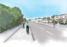 Artist impression of cycling lane
