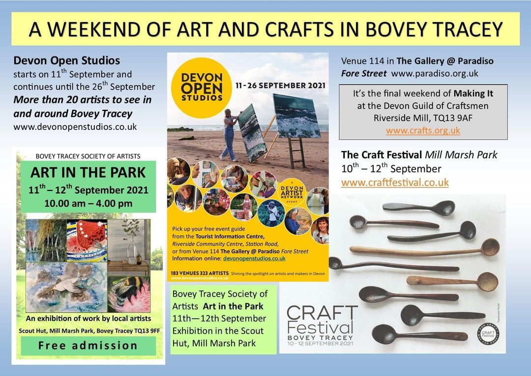 A weekend of arts and crafts in Bovey Tracey