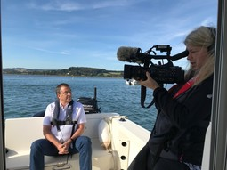 ITV news filing om an Exe Patrol boat re safety for migrating birds