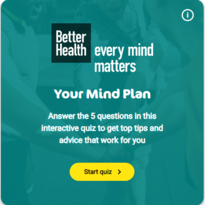 Better health - every mind matters. Your Mind Plan