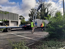 Delivery of heat pumps to Newton Abbot leisure centre