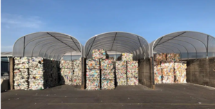 Recycling image - material in stacks