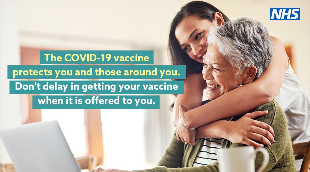 The Covid-19 vaccine protects you and those around you.  Don't delay in getting your vaccine when it is offered to you