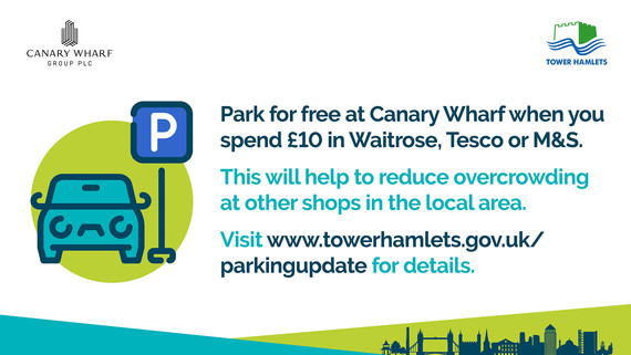 Canary Wharf parking offer