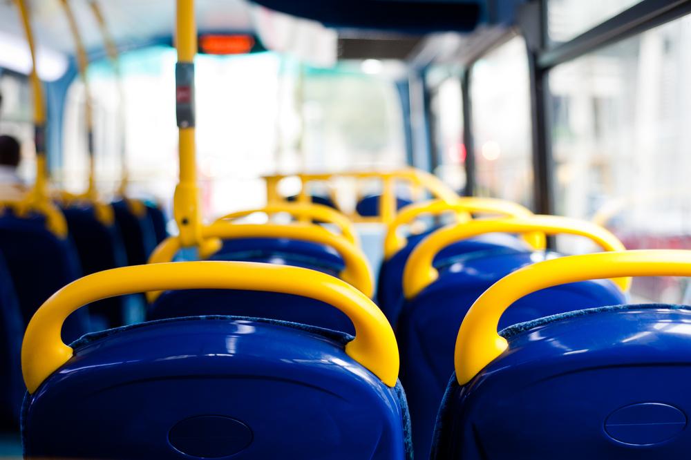 Empty London bus