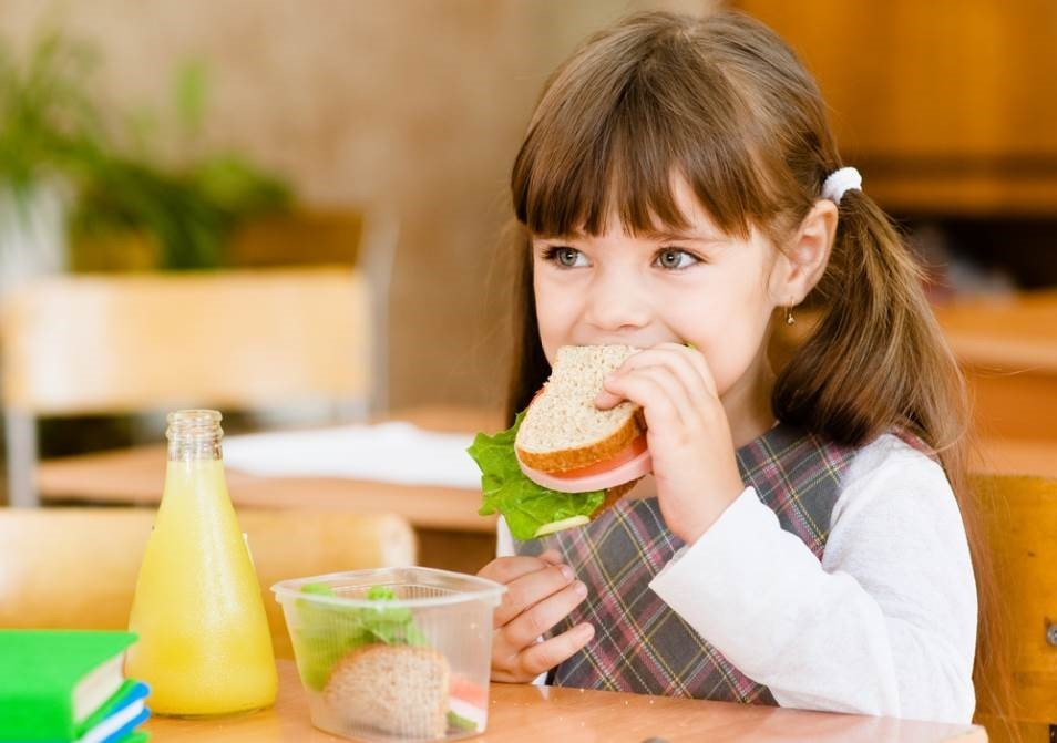 Child eating their lunch