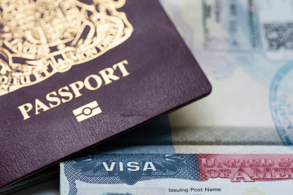 UK visa and passport