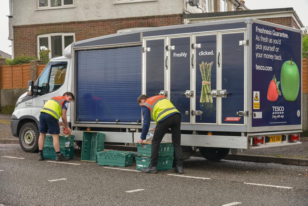 Food delivery van
