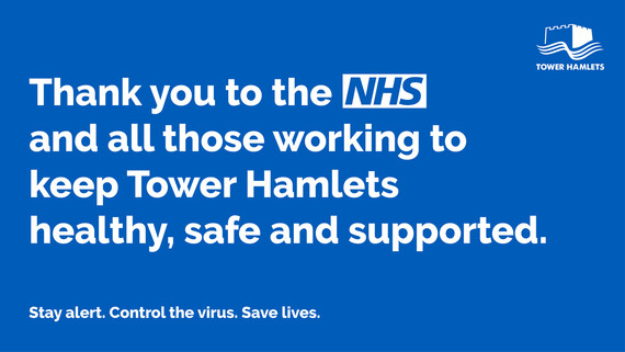 Blue support the NHS graphic