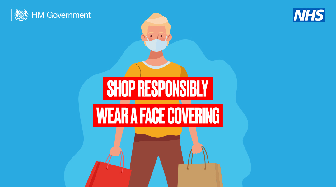 Wear a face covering when shopping