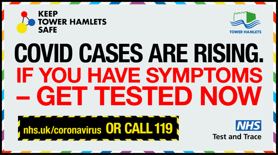 COVID cases are rising - Get tested if you have symptoms