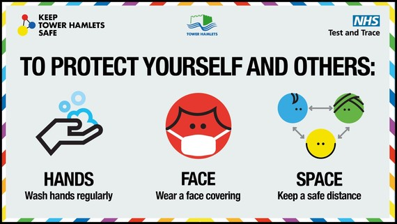 Hands face space - protect yourself from coronavirus