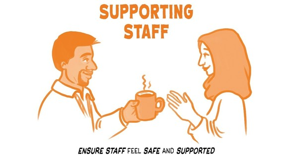 Supporting staff