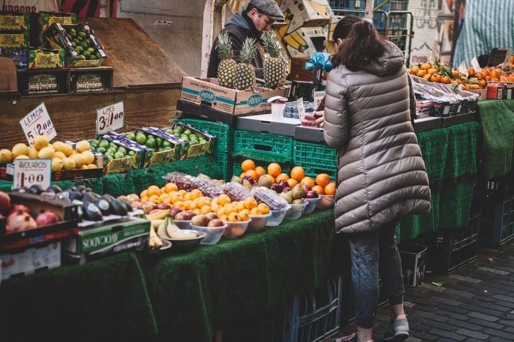 Fruit market stall healthy start scheme