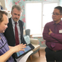 Minister sees how innovative new technology is improving the care of older people in care homes