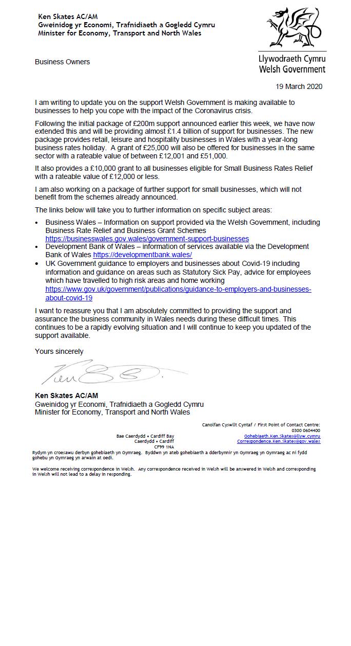 Minister's Letter