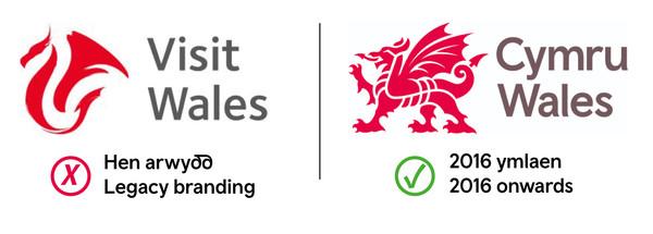Visit Wales brand versions bilingual
