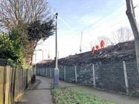 St James Quarter Network Rail clearing vegetation