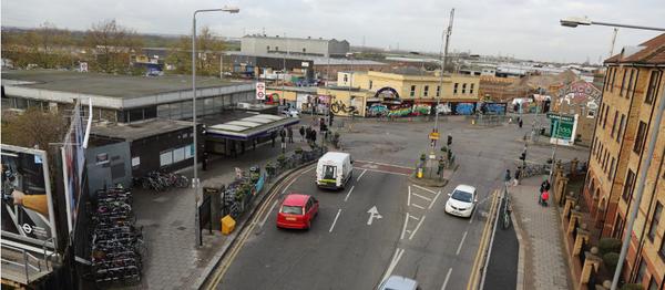 Blackhorse Junction with station for banner