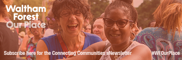 Connecting Communities banner: sign up!