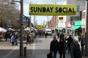 Sunday Social Market general with signs