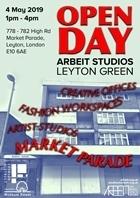 Arbeit Studios Market Parade Leytonstone Open day 040519 poster