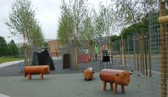Cheney Row Park sheep family children play equipment
