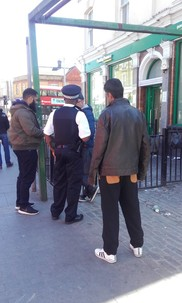 Bakers Arms ASB patrol with police 130519